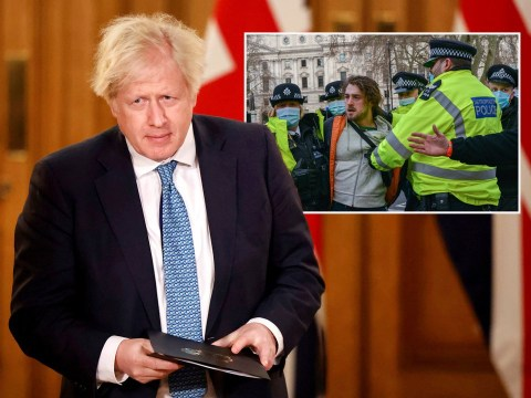 Boris tells Covid deniers who sit outside hospitals and insist they're empty to grow up