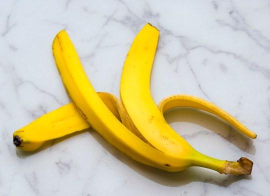 Yellow banana peel