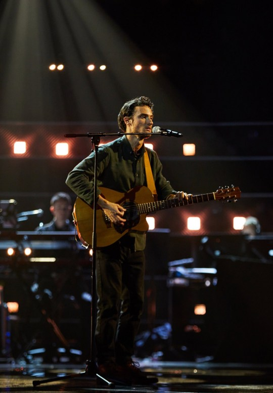 Benjamin Haycock performs. 'The Voice' TV Show,