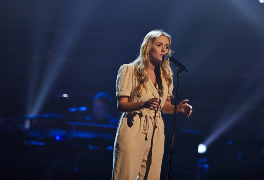 Esther Cole performs. 'The Voice' TV Show,