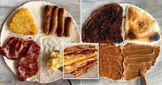 Picture: @fitwafflekitchen Baker shares simple breakfast wrap hack