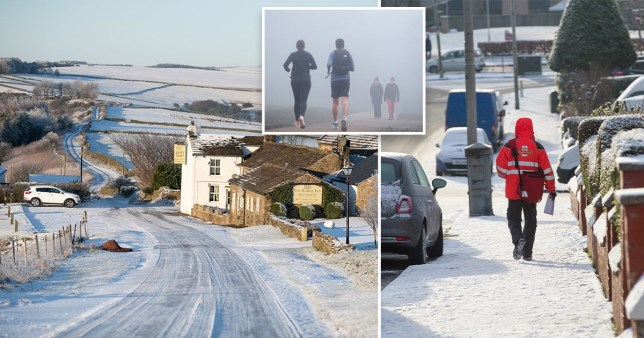 SNOW AND ICE SET TO HIT UK OVER BITTERLY COLD WEEKEND