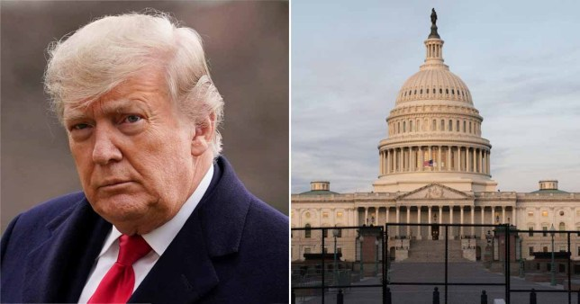 Donald Trump and the Capitol building