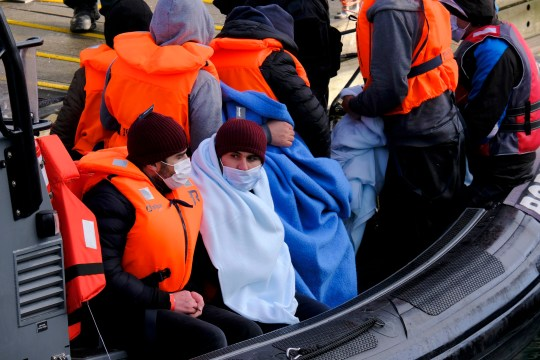 PHOTO: BY STEVE FINN 07968894444. PICTURE SHOWS: Migrants Arriving From The English Channel Today.Picked Up And Brought Ashore By Border Force Officials Arriving In Freezing Temperatures Temperatures.Dover Marina.Dover.Kent.Uk.Today. 10/01/21 SEE FERRARI PRESS FOR FULL COPY SPEC IMAGE NO SYNDICATION FOR SOCIAL MEDIA USAGE PLEASE CHECK WITH THE COPYRIGHT HOLDER PRIOR. NON FEE PAYING WEBSITES THAT HAVE STOLEN AND USED IMAGE WILL BE CHARGED ACCORDINGLY. SEPARATE ONLINE FEE AND PAPER FEE APPLIES. INDIVIDUAL TITLE FEE ALSO. stevefinnphotography@yahoo.co.uk