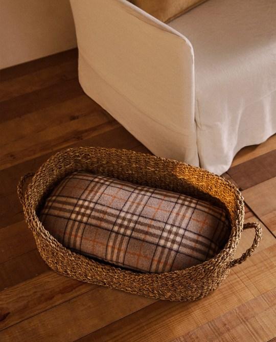 Small check cushion