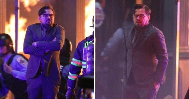 Leonardo DiCaprio filming Don't Look Up in Boston (Patriot Pics/BACKGRID)