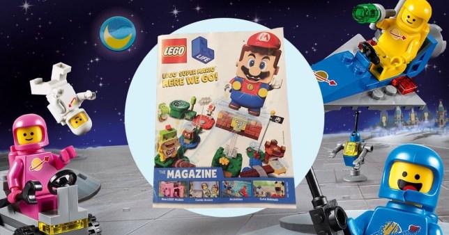lego magazine and lego surrounding it