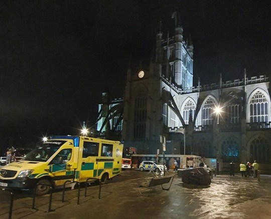 A man climbed onto the roof of Bath Abbey last night and rung the bells before changing the clock time. The intrepid explorer used scaffolding which is currently in place around the Abbey to access the roof just before 6.30pm yesterday (Monday, January 11). Once up on the roof, he rang the bells creating a deafening boom as the video shows, before changing the time on the clock face and lowered the flag. Avon and Somerset Police attended the incident along with the fire services and an ambulance. He has now been arrested and remains in police custody.