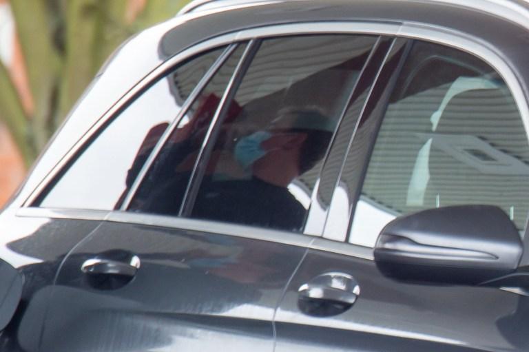 Zara Holland's boyfriend Elliot Love filling up car with petrol