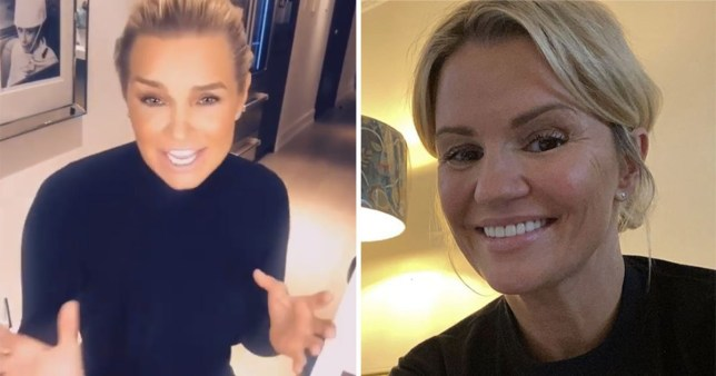 Kerry Katona and Yolanda Hadid
