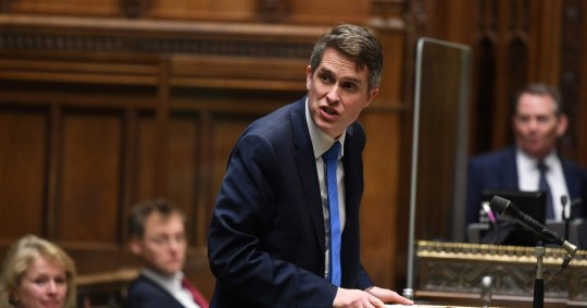 A handout photograph released by the UK Parliament shows Britain's Education Secretary Gavin Williamson attending the presentation of the Secretary of State for Educations statement on educational settings in the House of Commons in London on January 6, 2021. (Photo by JESSICA TAYLOR / various sources / AFP) / RESTRICTED TO EDITORIAL USE - MANDATORY CREDIT