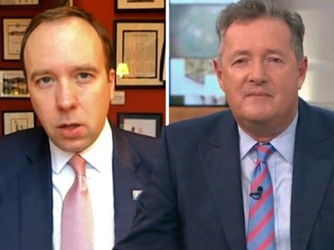 Matt Hancock squirms as Piers Morgan reminds him he voted against free school meals