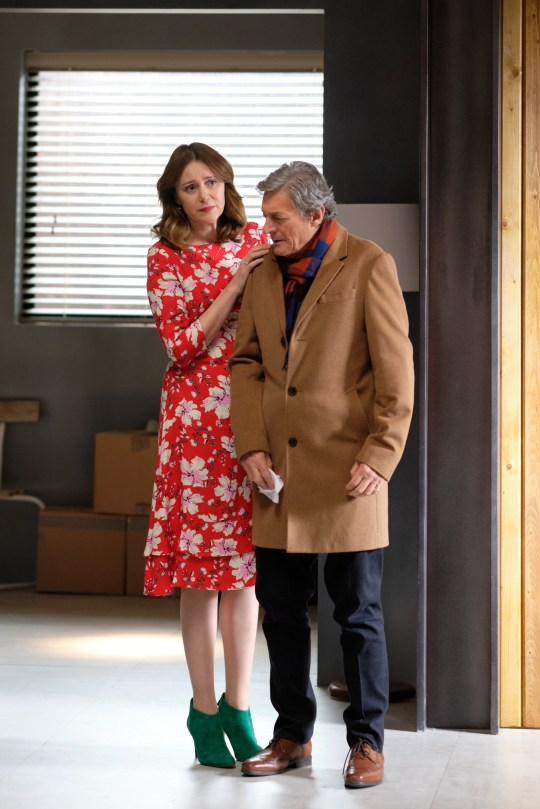 ITV EPISODE 1 Pictured: KEELEY HAWES as Alice and NIGEL HAVERS as Roger. This photograph must not be syndicated to any other company, publication or website, or permanently archived, without the express written permission of ITV Picture Desk. Full Terms and conditions are available on www.itv.com/presscentre/itvpictures/terms For further information please contact: Patrick.smith@itv.com 07909906963
