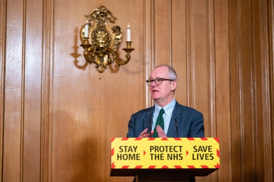 Chief scientific adviser Sir Patrick Vallance during a media briefing on coronavirus. The UK 11 cases of a Brazilian coronavirus strain and 35 confirmed cases of the South African variant.