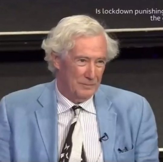 Lord Jonathan Sumption. Lord Sumption told Deborah James her life mattered 'less' because she has stage four bowel cancer.