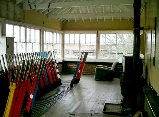The old signal levers