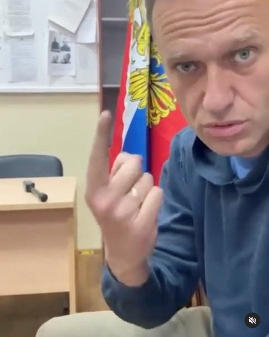 Le chef de l'opposition russe Alexei Navalny assiste à une audience à Khimki en dehors de Moscou,