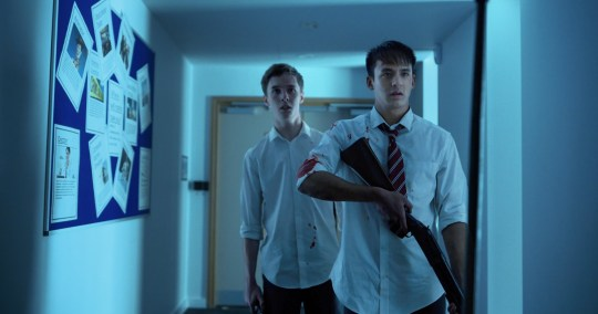 Still from School's Out Forever starring Oscar Kennedy