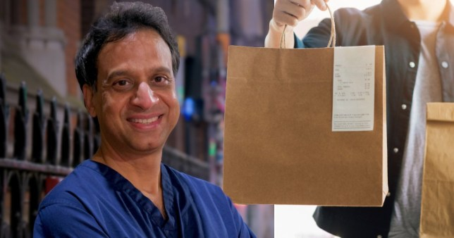 NHS doctor delivering restaurant meals in his free time