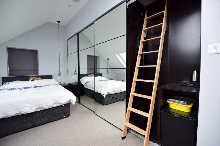 ladder in the bedroom in hillside house