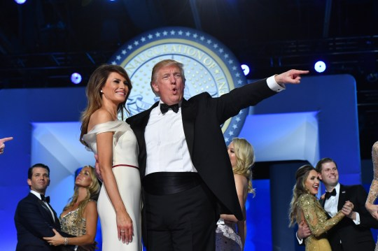 Mandatory Credit: Photo by REX (7946043k) President Donald Trump and First Lady Melania Trump dance at the Freedom Ball in Washington, D.C. Trump will attend a series of balls to cap his Inauguration day. Salute To Our Armed Services Ball, Washington DC, USA - 20 Jan 2017
