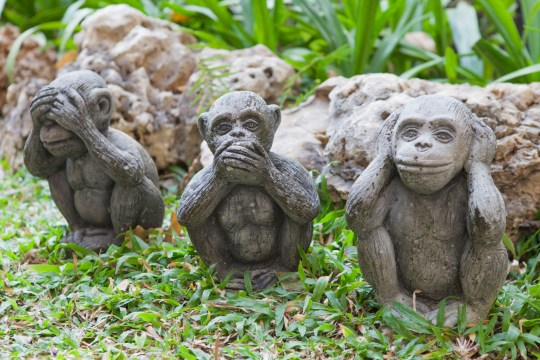 the monkey dolls are molded using hand action close ears,eyes and mouth; Shutterstock ID 176941715; Purchase Order: -