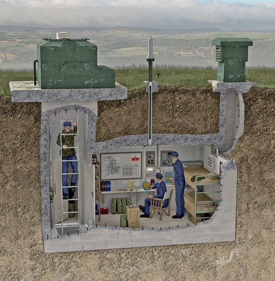 underground bunker built in cold war