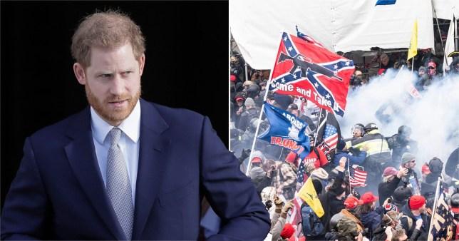 Le prince Harry qualifie les médias sociaux de `` menace pour la démocratie '' après les émeutes meurtrières du Capitole