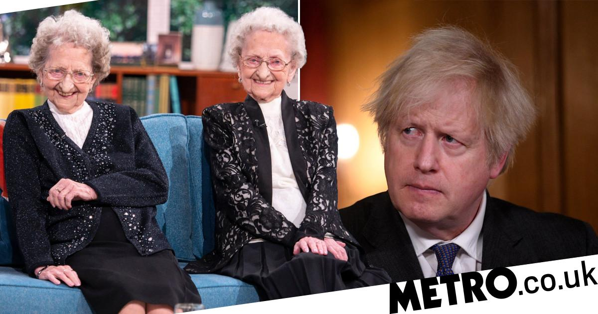 Lilian, 96, calls Boris a 'w****r' after identical twin Doris dies of Covid - metro