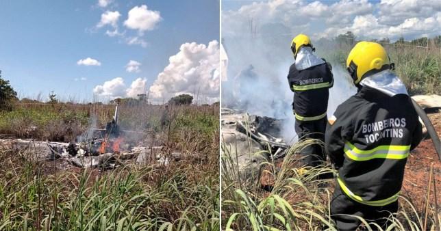 accident d'avion au Brésil