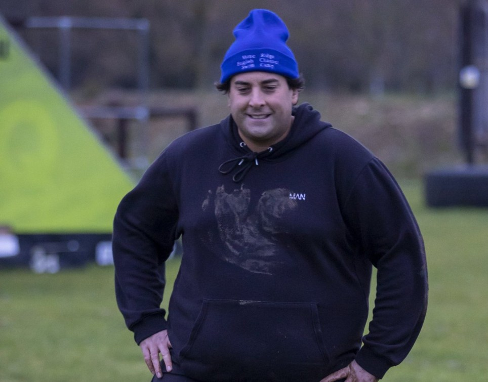 James Argent from Towie workout