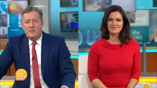 Piers Morgan and Susanna Reid 'Good Morning Britain'