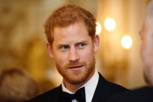 Britain's Prince Harry attends the 100 Women in Finance reception and gala dinner in aid of the WellChild charity at the Victoria and Albert Museum, in London, Wednesday Oct. 11, 2017. (Victoria Jones/Pool Photo via AP)