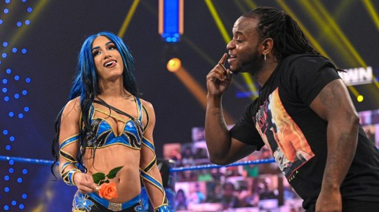 WWE superstars Sasha Banks and Reginald Thomas