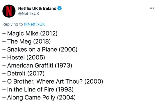 Netflix UK and Ireland tweet new releases for February