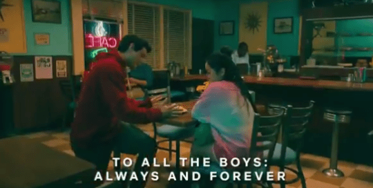 Lana Condor (Lara-Jean Covey) and Noah Centineo (Peter Kavinsky) in To All The Boys: Always and Forever