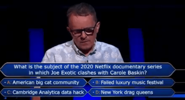 Craig on Who Wants To Be A Millionaire?