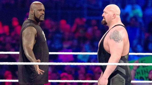 NBA legend Shaquille O'Neal faces off with WWE superstar The Big Show
