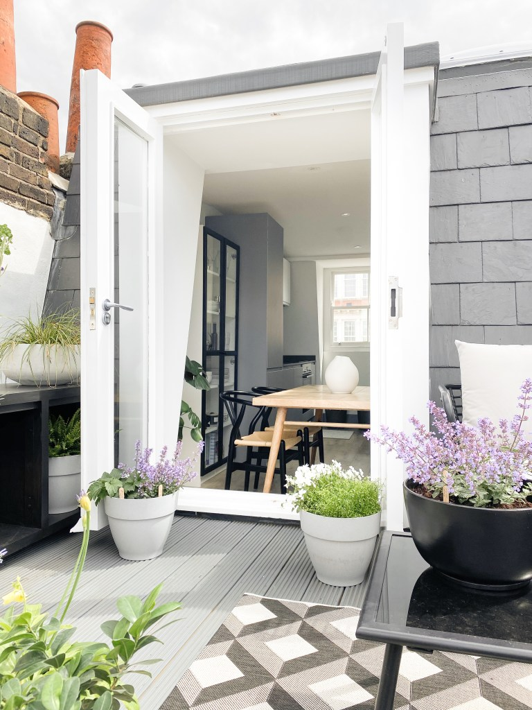 What I Rent: Annabel, two-bedroom flat in Angel, Islington - plants on terrace
