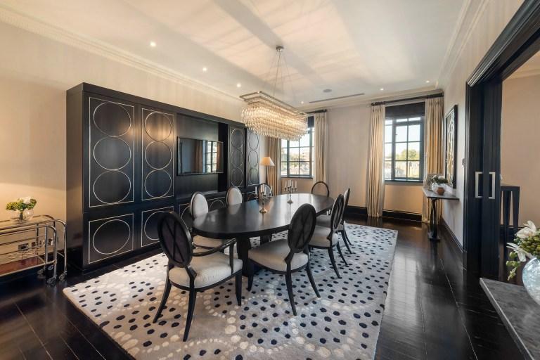 dining room in trevor square apartment