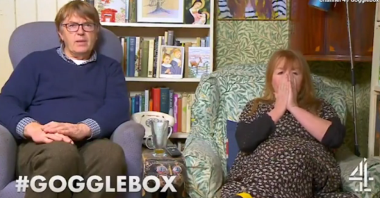 Giles and Mary on Gogglebox