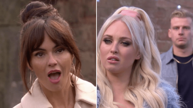 Mercedes, Theresa and Seth in Hollyoaks