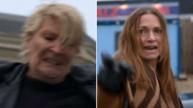Shirley and Katy in EastEnders