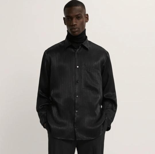 a striped jacquard shirt zara