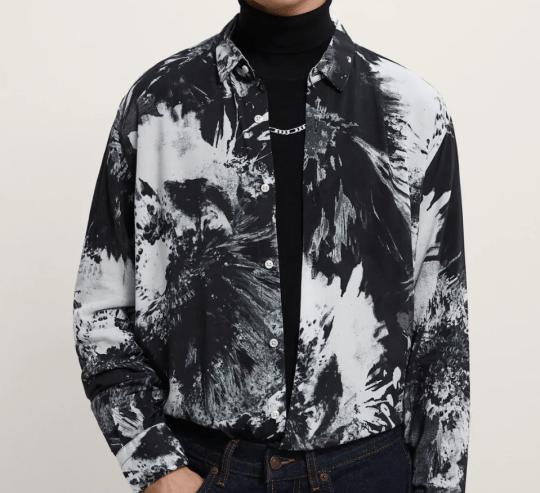tye dye print shirt from zara