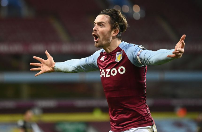 Jack Grealish has scored six goals in the Premier League this season