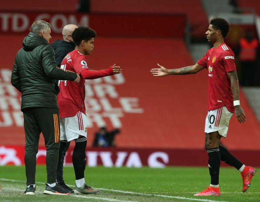 Shola Shoretire debut Manchester United v Newcastle United - Premier League