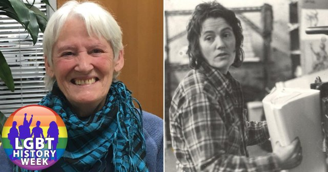 Two pictures of Luchia Fitzgerald, one present day and one from the 70s