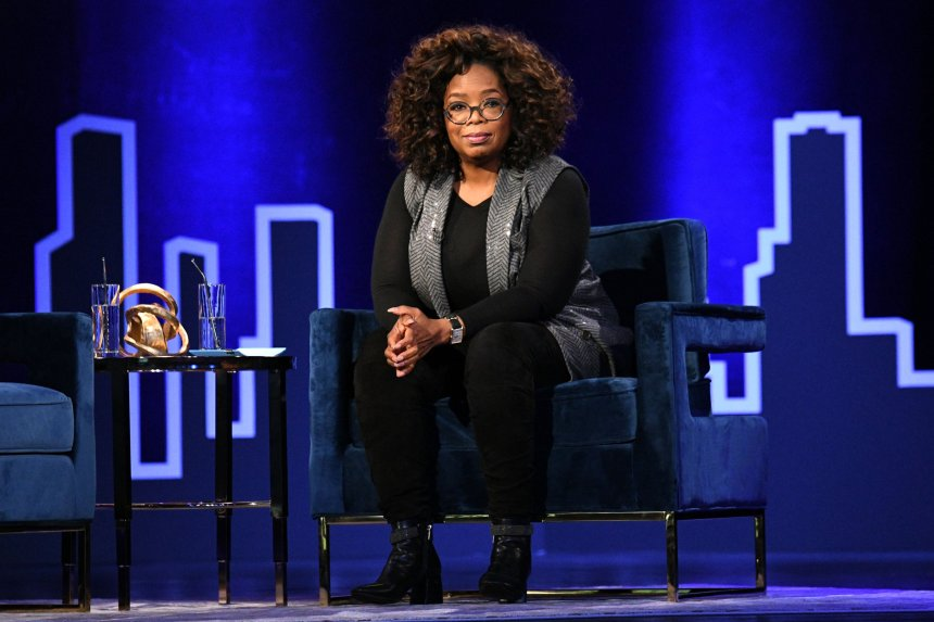 Oprah Winfrey speaks onstage during Oprah's SuperSoul Conversations at PlayStation Theater. Prince William is said to be upset over Harry and Meghan's 'insulting' response to the Queen about service.