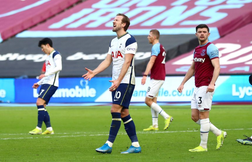 Spurs are nine points off fourth place after the 2-1 defeat to West Ham
